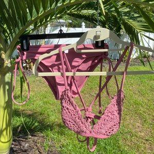 Target Mauve Crotchet Bikini Set